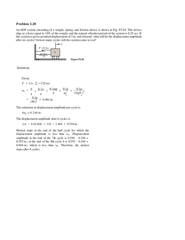 dynamics of structures solution manual