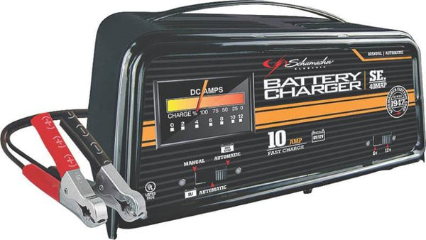 schumacher 10 2 amp fully automatic manual battery charger instructions