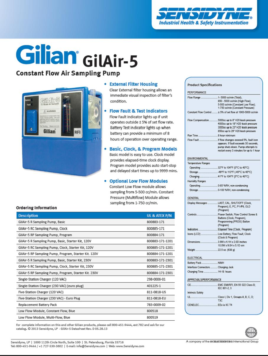 gilian bdx ii parts manual